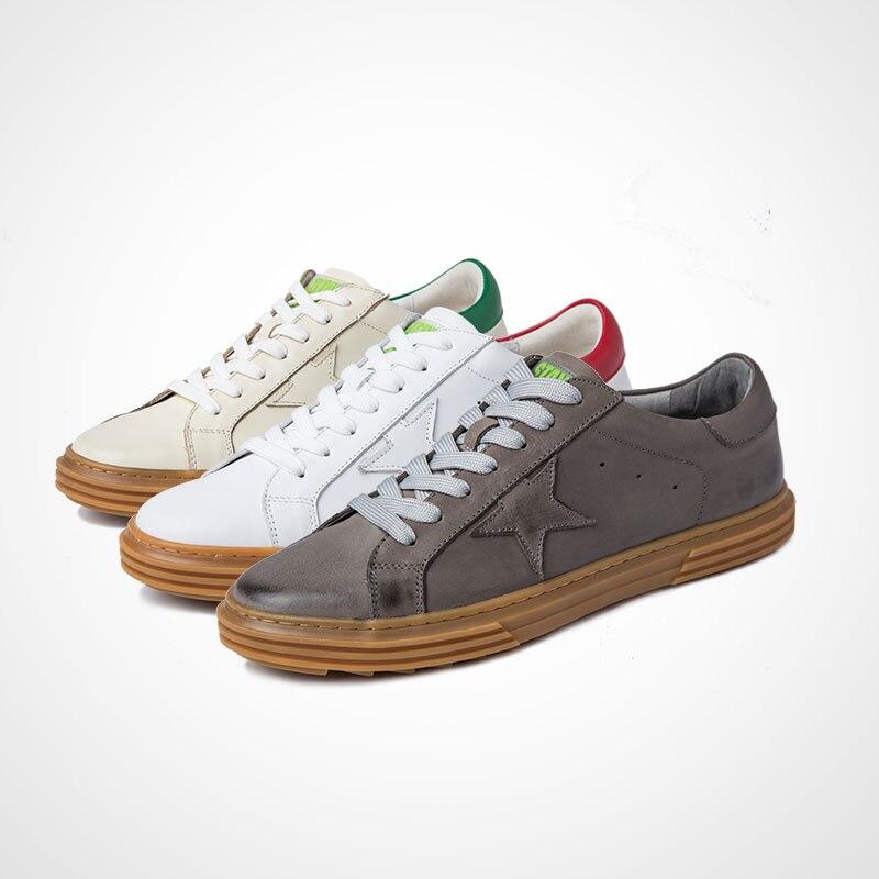 Da Outono De Jogo Todos Primavera Sapatos Genuíno Couro Bege Homens Moda Os Sujos Botas Dos Do Tênis Lazer Respirável Casuais UEwnqxqPFt
