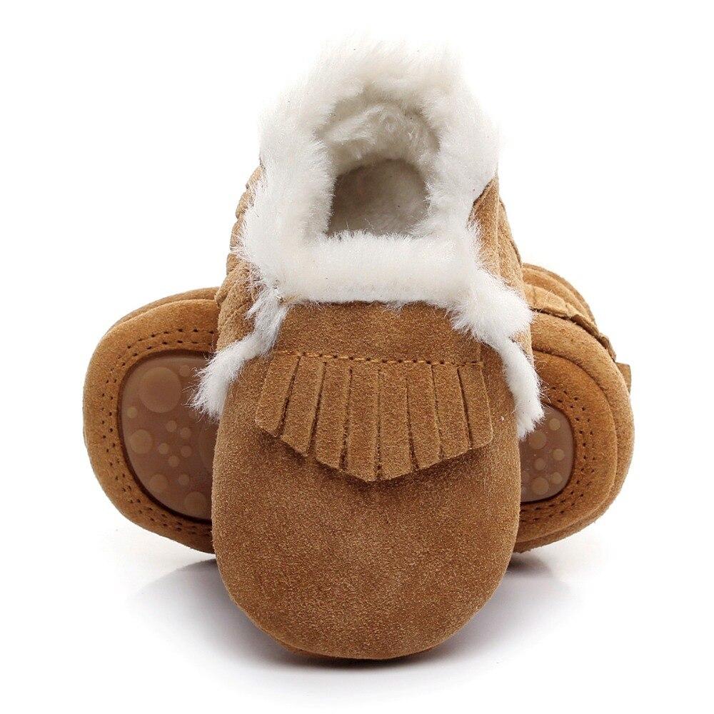 Nuevo estilo de invierno con botas de piel de cuero genuino Zapatos - Zapatos de bebé