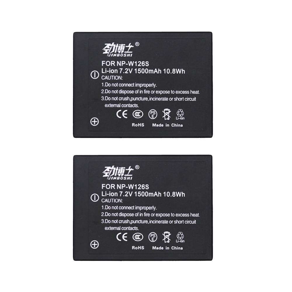 Pro 1 Batterien Radient 2 Stücke Np-w126s Np W126s Akku Für Fujifilm Fuji Np-w126 Hs30exr Hs33exr Hs50exr X-a1 X-e1 X-e2 X-m1 X