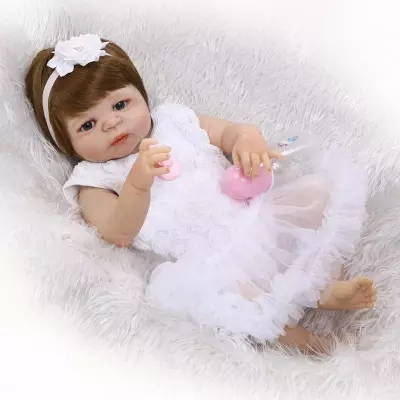 57CM Full Silicone Reborn Baby Girl Princess Dolls Lifelike Newborn Babies Alive Doll for Child Bath Bedtime Toy  Doll new full silicone reborn dolls in pink clothes 20 lifelike newborn girl baby doll reborn for kids bath shower bedtime play toy