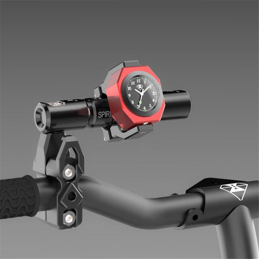 Image 5 - Universal Waterproof 7/8 Motorcycle Bike Handlebar Mount Clock  Watch Luminous Clock with Waterproof Temp Thermometerstyle  motorcyclestyle clockmotorcycle motorcycle