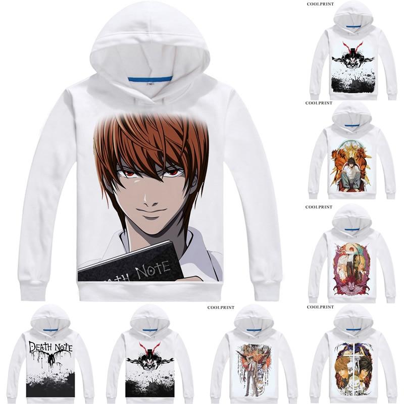 Death Note Hoodie L logo Light Ryuk Anime Black Japan Cosplay jumper ALL SIZES