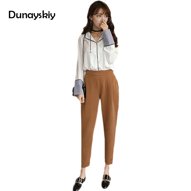 S-4XL plus size High Elastic Waist pants women Trousers loose Harem Pant regular office Lady Tapered workwear good match trouser agb women s elastic waist pants