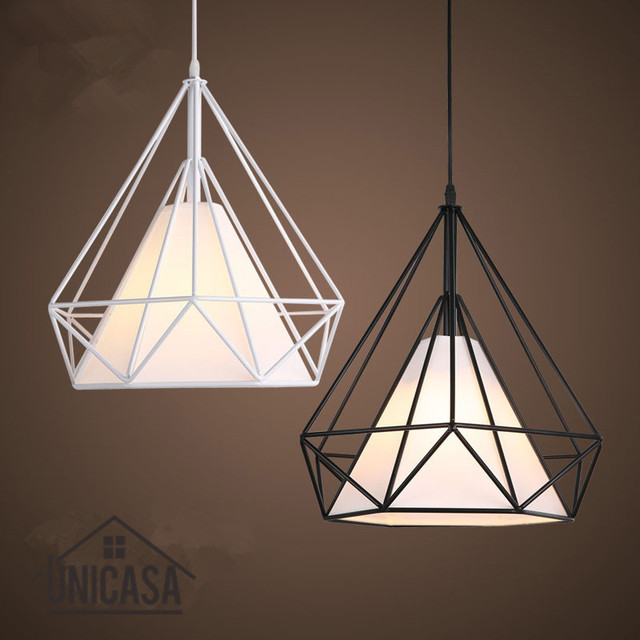 Negro/Blanco Sombras hierro forjado Iluminación lámparas moderno ...