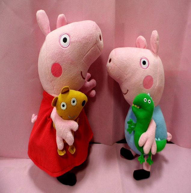 2013 brand new 32cm peppa pig 28cm  george pig peppa plush toys large size cute kids toddler toys christmas gift
