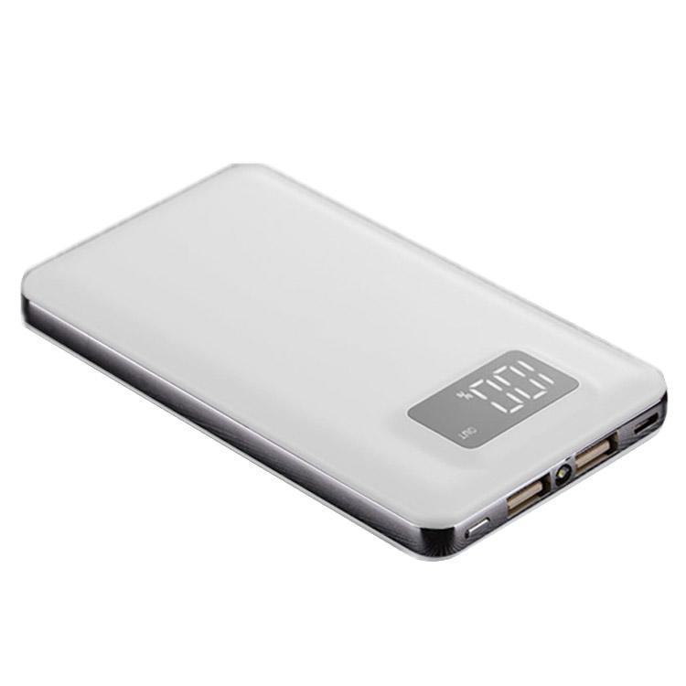 30000 mAh General Portable Dual USB External Battery Charge Power Bank With LED Light with two output ports usb battery bank charger