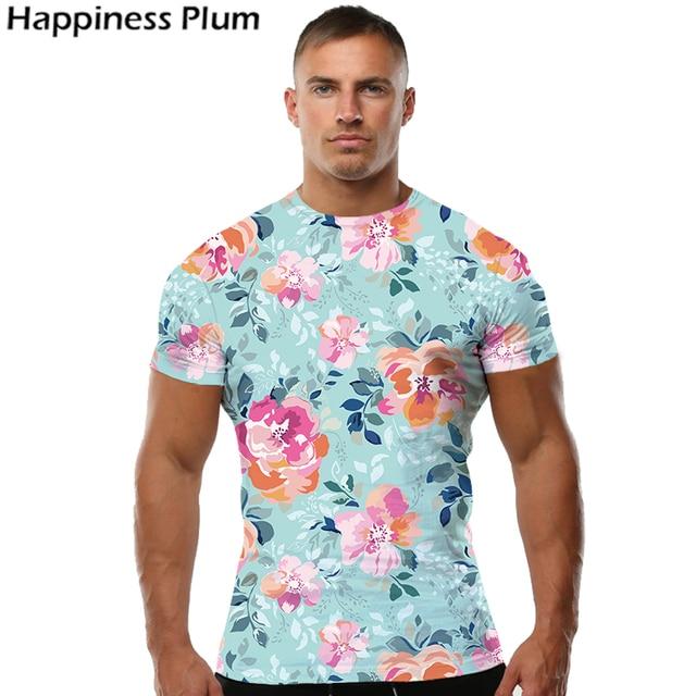 c5d2d7c7 Pink Flower T Shirt Fashion T-shirt Men Short Sleeve 3d Print Tshirt Tee  Summer