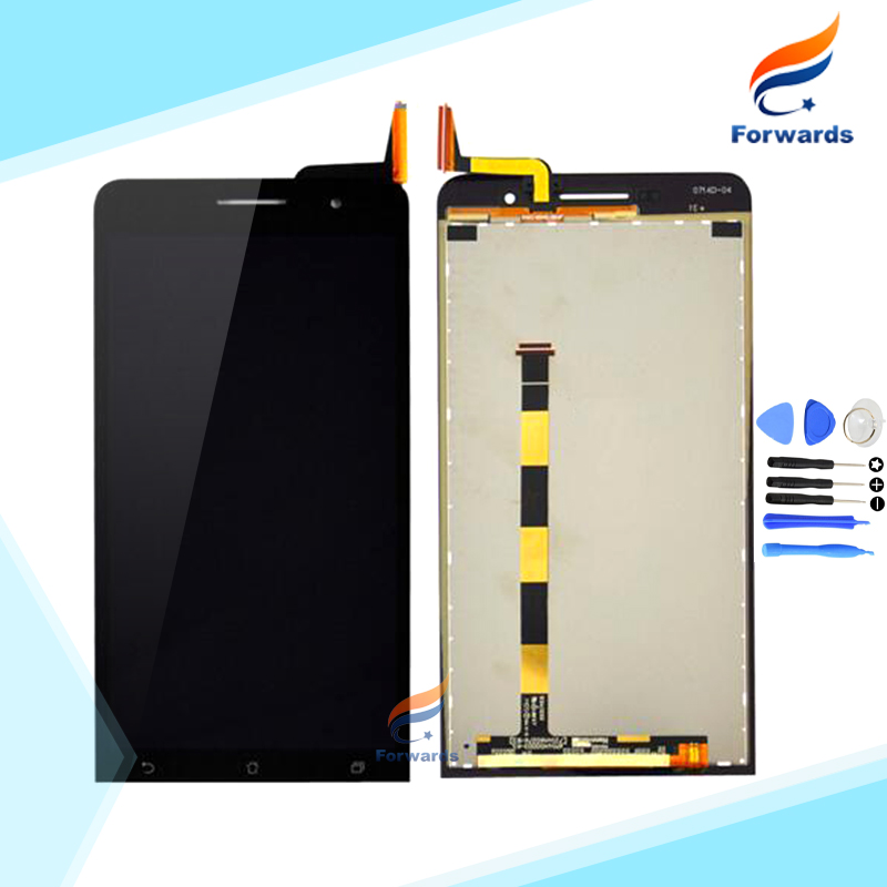 100% New Tested Black LCD for ASUS Zenfone 6 Screen Display with Touch Digitizer + Tools Assembly 6.0 inch 1 piece free shipping бумбарам волшебные кристаллы синяя елочка