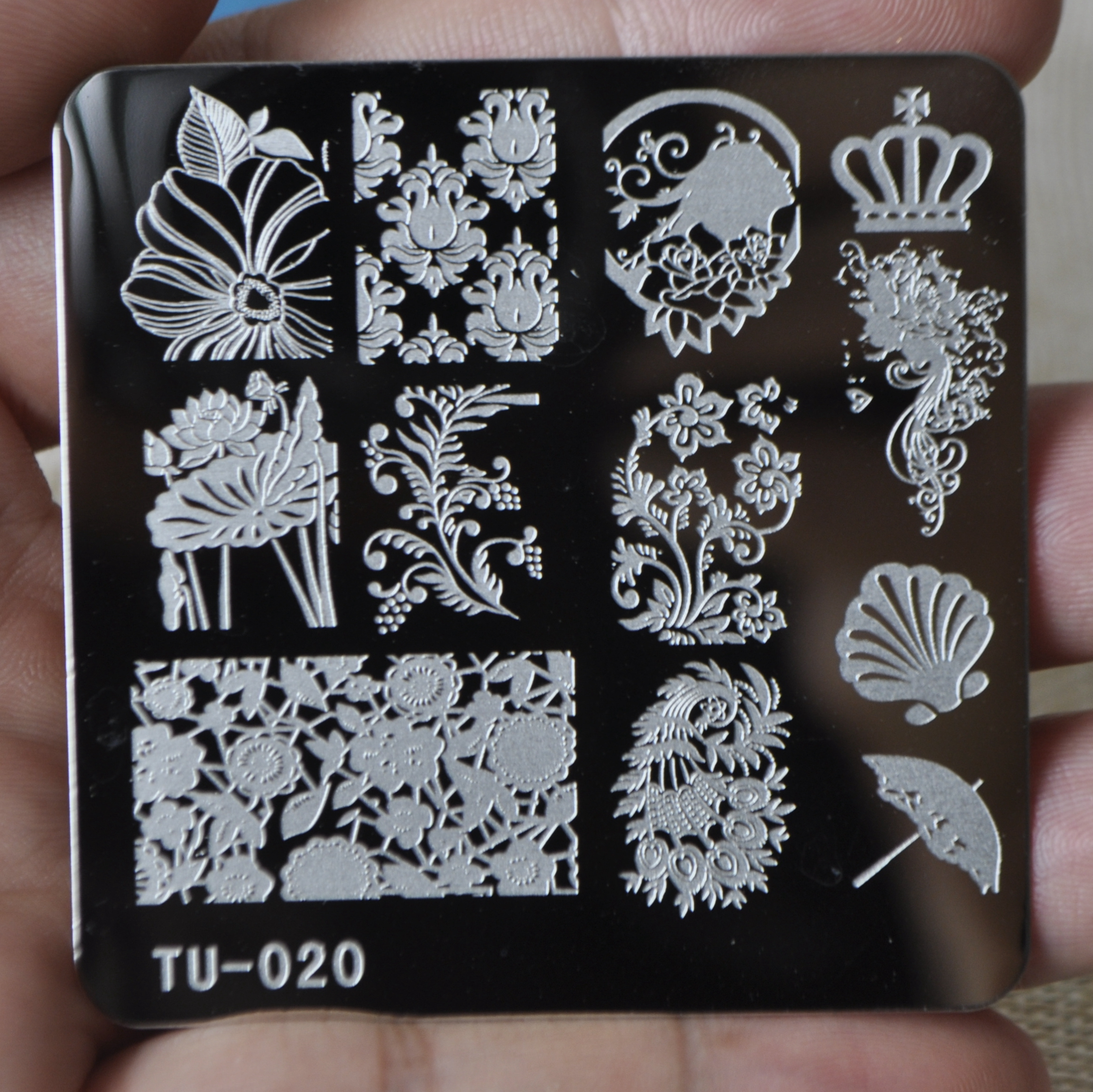 Nail design plates gallery nail art and nail design ideas online shop optional patterns nail design stamping plate stencil online shop optional patterns nail design stamping prinsesfo Image collections