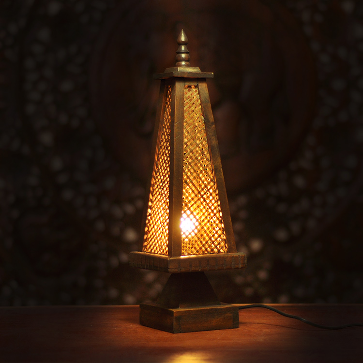 Unique bamboo table lamp bedroom bedside lamp antique ...