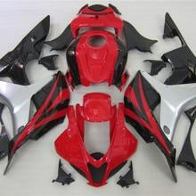 Красный, серебристый, черный обтекатель комплект для HONDA CBR 600 RR 2007 2008 материалы для инжекционного литья CBR600RR 07 08 CBR 600RR Настройка