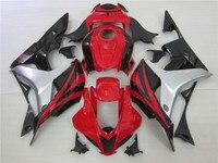 Red silver black fairing kit for HONDA CBR 600 RR 2007 2008 Injection mold fairings cbr600rr 07 08 CBR 600RR Free customize