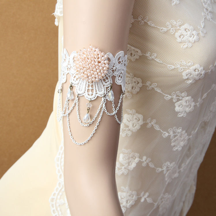 Buy white lace armlet and get free shipping on AliExpress.com 3efaab5189c1