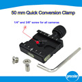 "QR-50 38mm Aluminum Screw Knob Mini Quick Mounting Release Clamp Compatible with 1/4"" 3/8"" Camera Screw"
