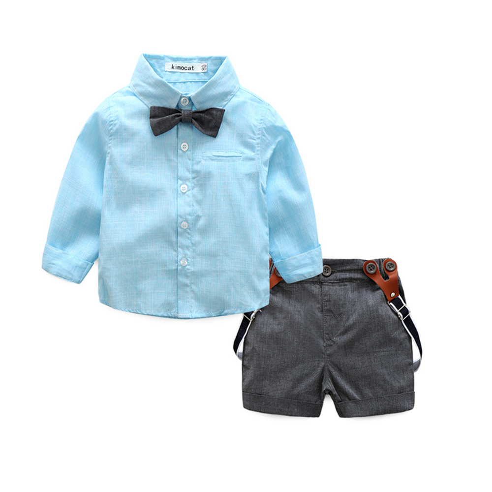 2017 New Fashion Baby Boy Clothes 2pcs gentleman baby clothing sets ...