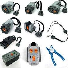 Technic piezas compatibles con múltiples funciones de energía, bloques de servomotor eléctrico de tren, juegos de modelos PF, Kits de construcción
