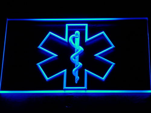 714 EMS Paramedic Medical Services LED Neon Sign with On/Off Switch 20+ Colors 5 Sizes to choose ...