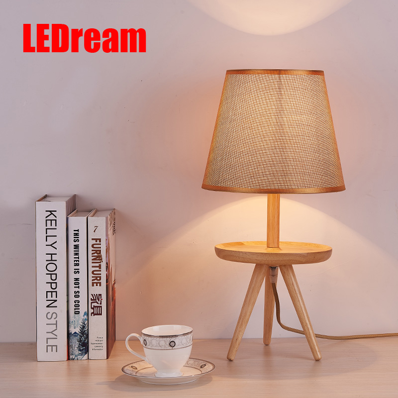 Japanese contracted creative logs of the head of a bed tray table lamp decoration lamp Nordic study lamp place other peop free shipping solenoid valve 4v130c m5 double coil port m5 220v ac 5 way 3 position control valve with plug type red led light