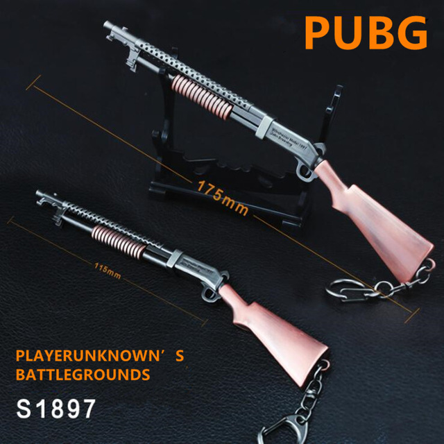 Game PUBG Playerunknown's Battlegrounds Cosplay Costumes Props Alloy  S1897 Armor Model Key Chain Keychain