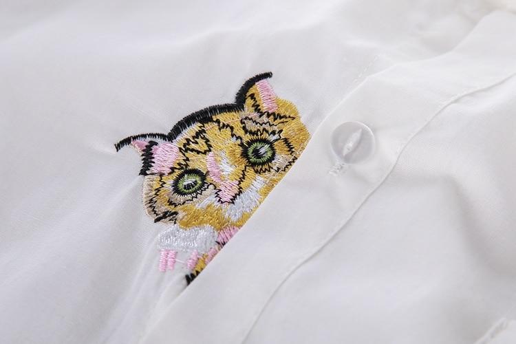 13 Modele Preppy Stili Bluzë e Bardhë Vajzat Pambuku E lezetshme e - Veshje për femra - Foto 5