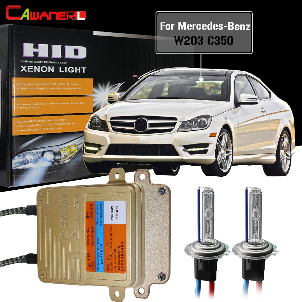 Cawanerl For Mercedes Benz W203 C350 2006-2007 55W Car HID Xenon Kit No Error Ballast Light AC Auto Light Headlight Low BeamCawanerl For Mercedes Benz W203 C350 2006-2007 55W Car HID Xenon Kit No Error Ballast Light AC Auto Light Headlight Low Beam