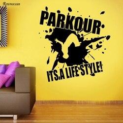 Parkour Wall Decal Extreme Sport Vinyl Sticker Gym Poster Decor Art Mural Z131