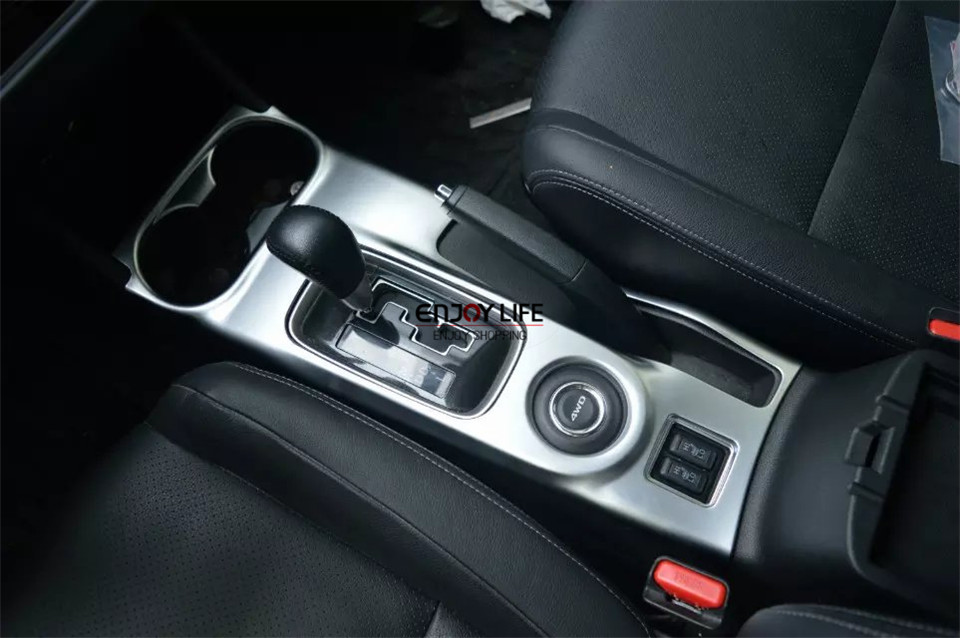 1pc Cup Holder Gear Box Shift Panel Paking Brake Cover Trim For Mitsubishi Outlander 2013 2014 2015 2016