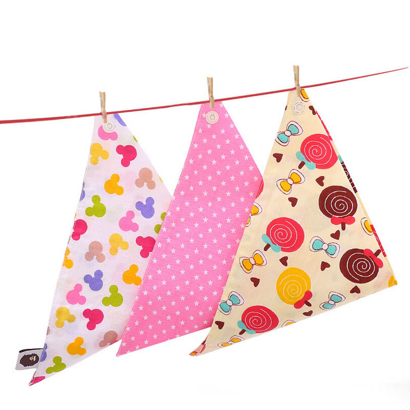 New Baby Kids Cotton Toddler Bibs Saliva Towel Dribble Triangle Children Boy Girls Fashion Cotton Head Scarf (Clearance)
