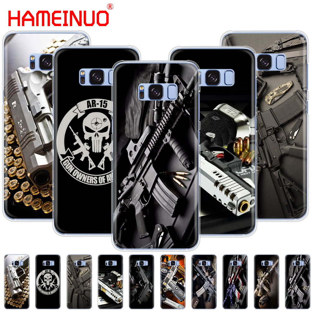 Nice Weapons Rifle Guns Sniper Pistol Bullet Cell Phone Case Cover For Samsung Galaxy E5 E7 Note 3,4,5 8 On5 On7 Grand G530 2016 Can Be Repeatedly Remolded. Phone Bags & Cases