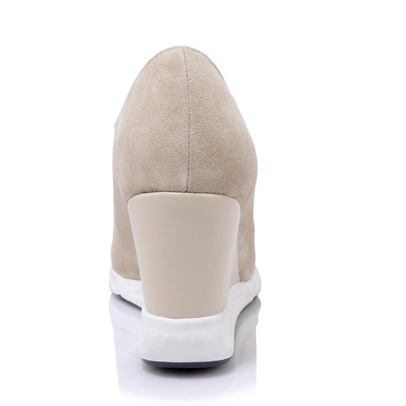 Zipper Pointu Plate Cheville Bottes forme Femmes Asileto Femme Bout black Véritable Chaussures Coins 2018 Botas En Apricot S688 Daim Cuir H2E9YIWD