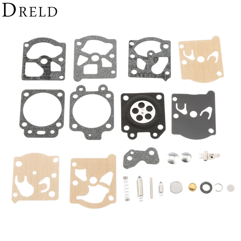 DRELD Carburetor Repair Kit Chainsaw Trimmer Parts Carb Rebuild Tool Gasket Set for Walbro K20-WAT WA /WT STIHL HS72 HS74 HS76 carburetor rebuild repair carb kit fits for stihl ms361 ms290 ms390 ms440 ms460 chainsaw carb kit walbro k10 hd