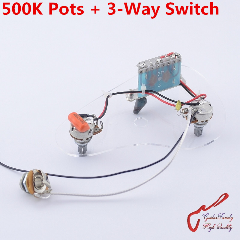 1 set guitarfamily electric guitar pickup wiring harness for lp sg Telecaster Wiring Harness 1 set guitarfamily electric guitar wiring harness ( 2x 500k pots 3 way switch