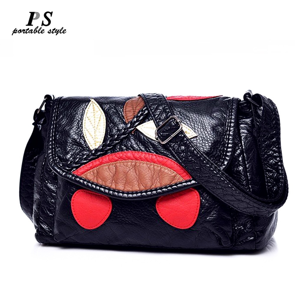 Genuine Leather Women's Handbags Cowhide Leather Shoulder CrossBody Bags Ladies Fashion Patchwork Women Bags Bolsas Feminina