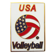 купить Fashion Promotion Gift Soft Enamel USA Volleyball Emblem Badges по цене 22439.35 рублей