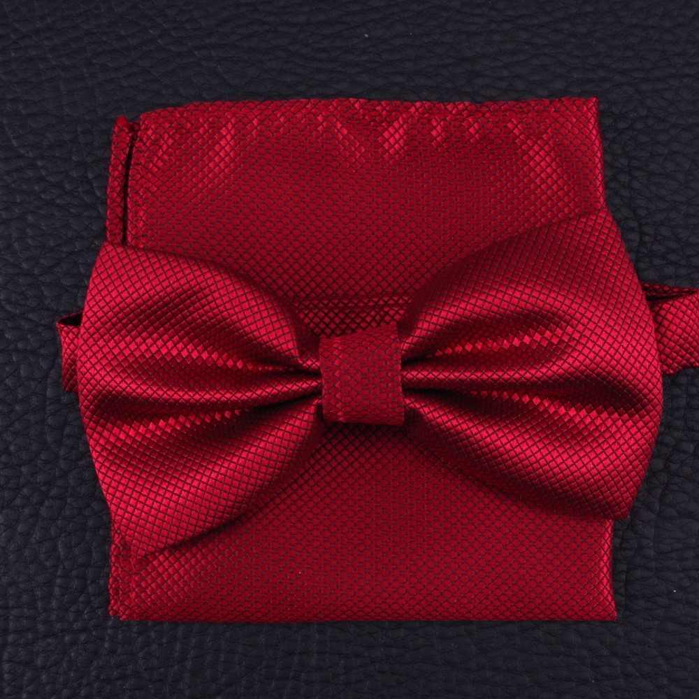 Носовой платок галстук-бабочка наборы с платком модные галстуки для мужчин gravata свадебное платье Вечерние футболка в деловом стиле для мужчин