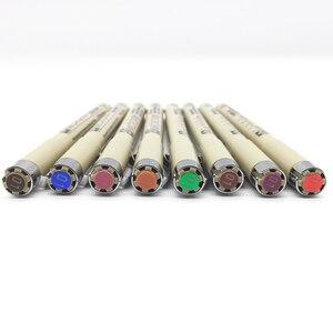 Image 5 - 8/14 renk SAKURA Pigma Micron kalemi kalem 0.25mm 0.45mm renk Fineliner çizim hatları işaretleyici kalem öğrenci sanat malzemeleri