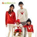 Actionclub Father Mother Kids Outfits Cotton Long Sleeve T-shirt For Family Clothing Autumn Mother Daughter Matching Clothes