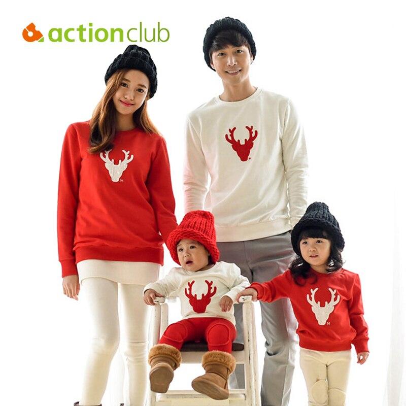 Actionclub Father font b Mother b font font b Kids b font Outfits Cotton Long Sleeve