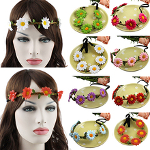 Hot Boho Style Chrysanthemum Floral Flower  Festival Party Wedding  Hairband Headband  Hairwear for Women Girls 5BW2 7EVB
