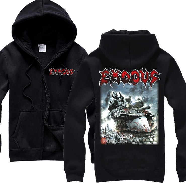 15 видов ужасный Exodus sudadera рок хлопок толстовки оболочка куртка панк рокерский спортивный костюм тяжелая металлическая брэндовая одежда, спортивные футболки - Цвет: 6