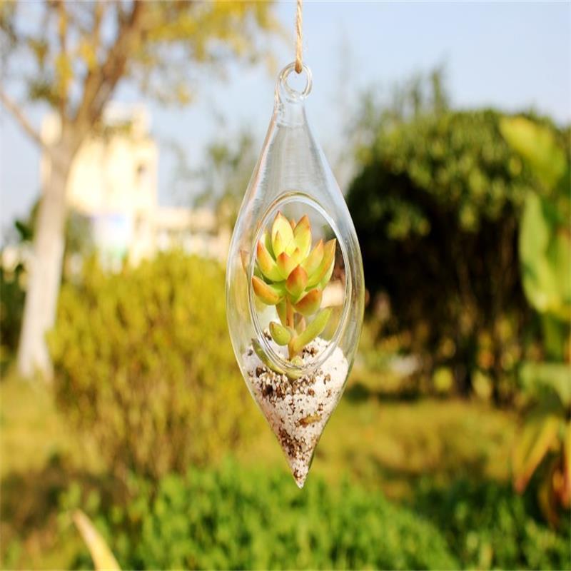 Rippuv läbipaistev klaasist vaas topeltpööratud klaasist - Kodu kaunistus
