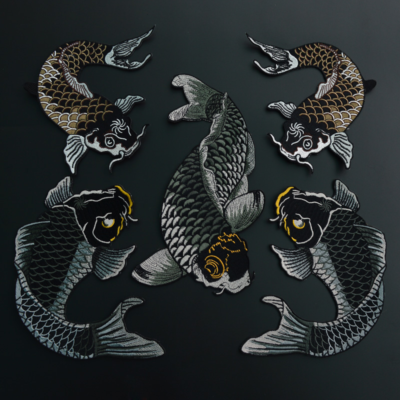 Buy carp stickers ethnic style embroidery for Decorative carp