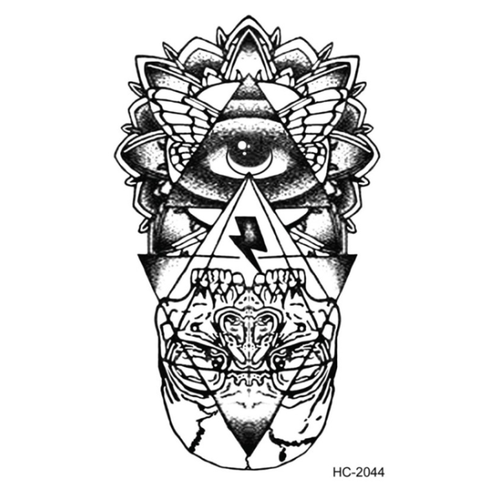 Us 134 16 Offfor Girl Women Men Waterproof Temporary Tattoo Sticker Eye Of God Totem Tattoo Body Art Water Transfer Fake Tattoo Flash Tattoos In