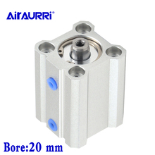 Double Acting single rod compact pneumatic cylinder smc type CQ2B/CDQ2B bore 20mm stroke 5/10/15/20/25/30/35/40/45/50mm smc type cq2b cdq2b bore 20mm stroke 5 10 15 20 25 30 35 40 45 50mm double acting single rod compact pneumatic cylinder