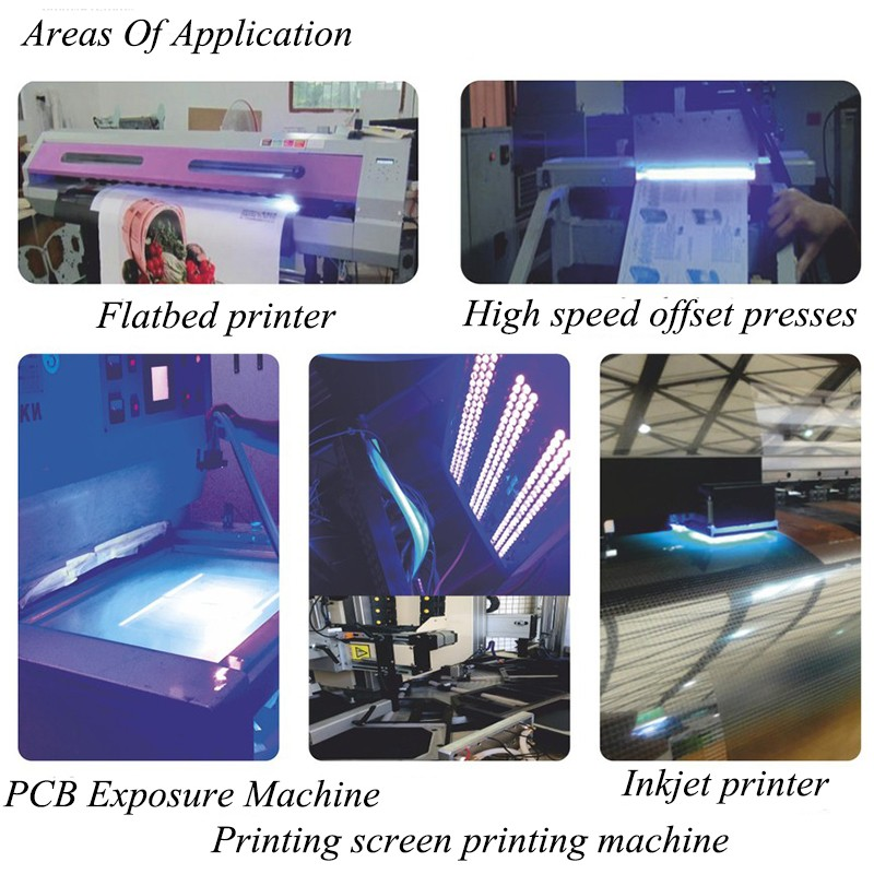 1pcs 80w led uv printer head module 395nm for epson head dx5 printer screen  printing machine,uv flatbed printer,uv glue curing