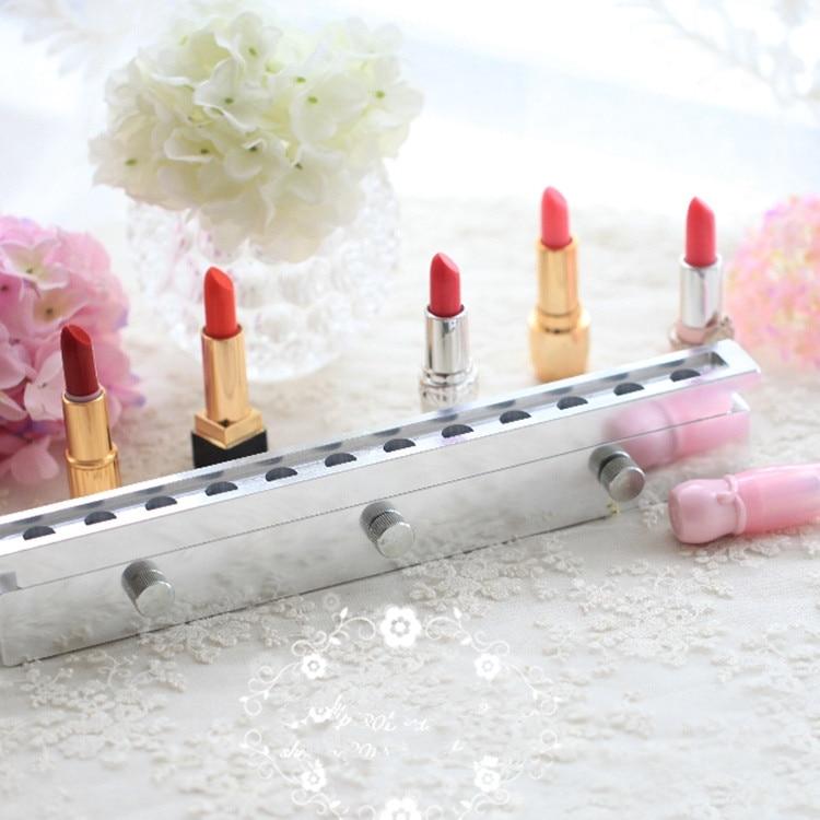 Free shipping 12 1mm Aluminium lipstick mould 12 cavities for DIY lip mold filling 12 holes