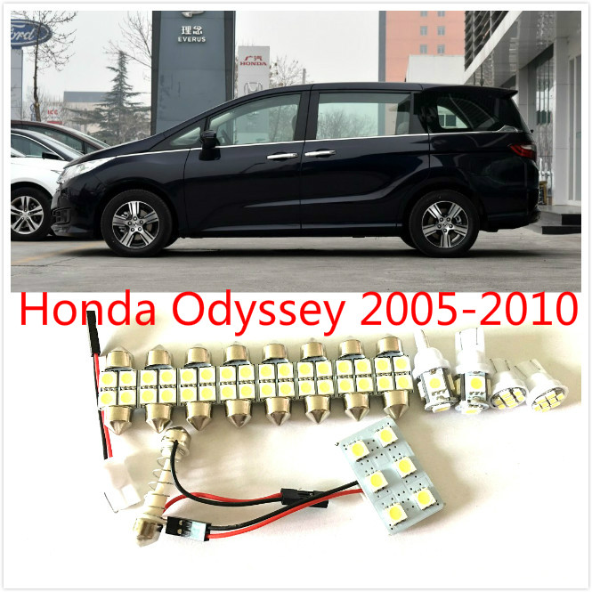 11PCS White LED interior package kit For Odyssey 2005-2010 Map Dome Trunk Cargo Courtesy License Plate Tag Lights high quality