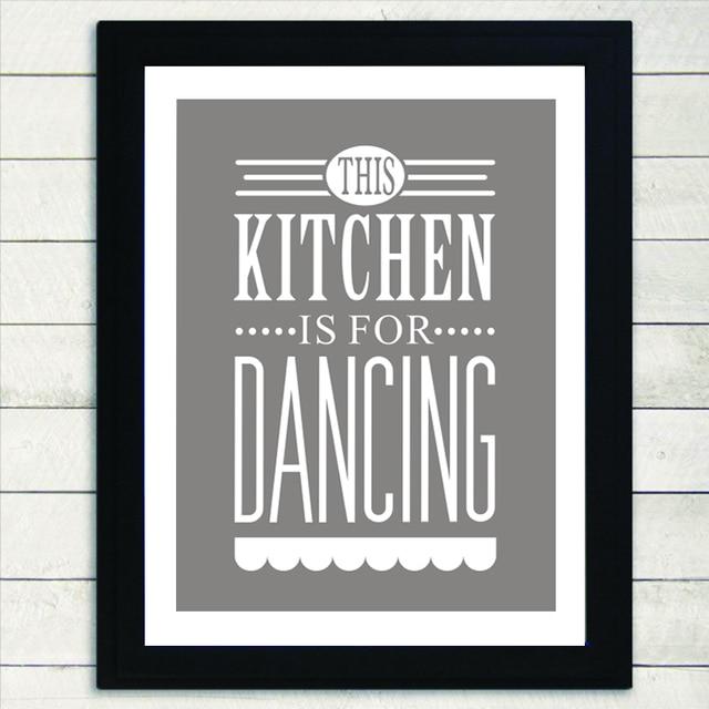 Questa Cucina è Per La Danza Moderna della Tela di canapa Pittura ...