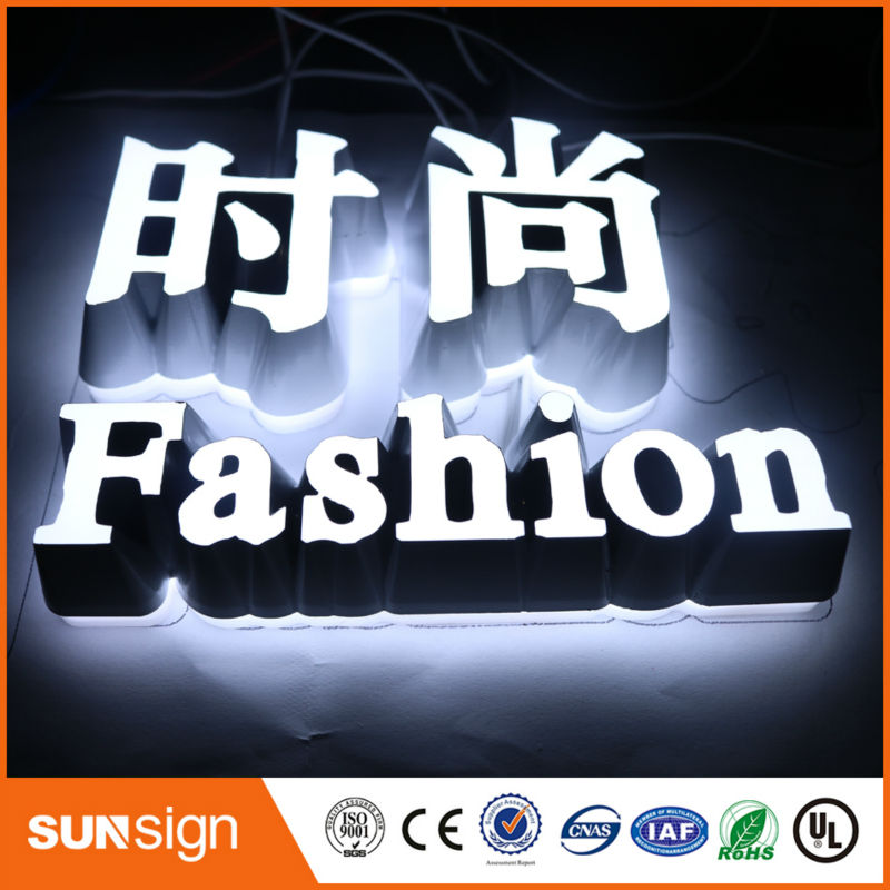Custom Super Quality High Brightness Led Hair Cuts Sign