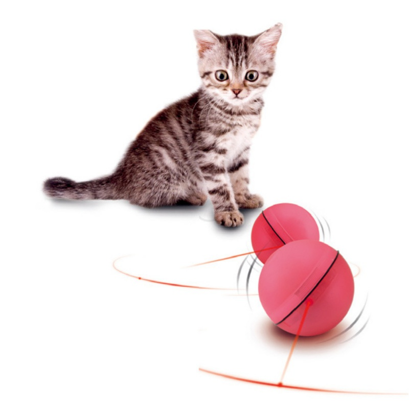 Balls Toys For Cats Red & White LED Flash Scroll Balls Toy For Cat Comes With 3 Batteries Keep The Cats Ready Cats Toys New